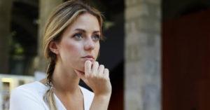 woman considering refinancing
