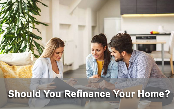 people discussing refinancing California